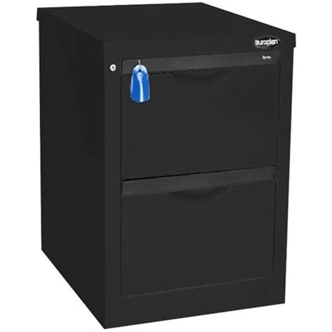 Europlan Filing Cabinet Europlan 505w Forte Filing Cabinet 2 Drawer Matt Black Officemax Nz