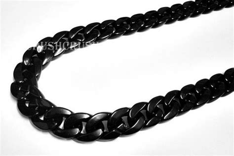 black chains grade a black chunky chain plastic link necklace craft