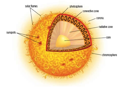 diagram of the sun with labels layers of the sun diagram of sun layers sol