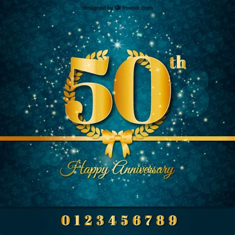 Wedding Anniversary Backdrop by Golden Anniversary Background Vector Free