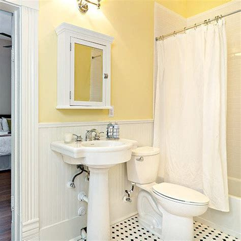 small yellow bathroom bathroom color schemes smart choices for small spaces