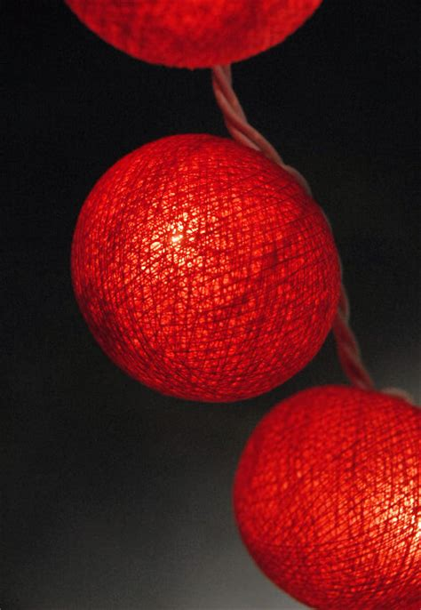 cotton ball string lights red cotton ball string lights 20ct 8 ft
