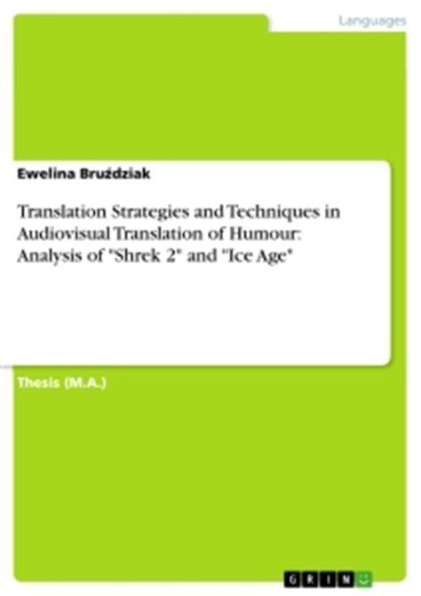 Thesis Audiovisual Translation | translation strategies and techniques in audiovisual