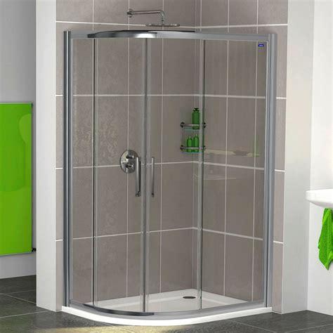 Showerlux Legacy Twin Door Offset Quadrant Shower Quadrant Shower Doors