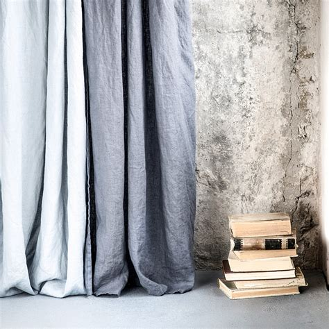 linen drapery panels dark grey graphite washed linen curtains linen drapes in