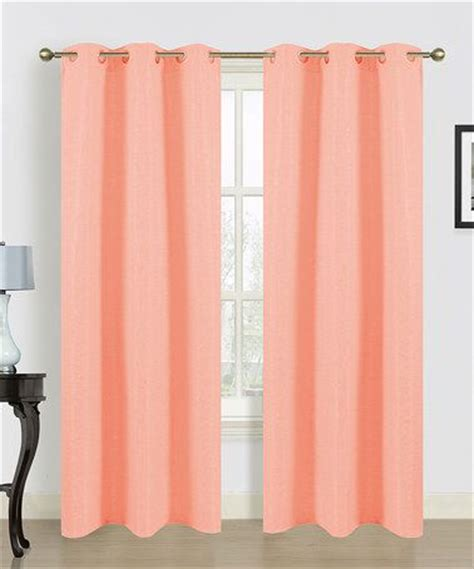 peach curtains drapes dainty home peach window curtain panel set of two