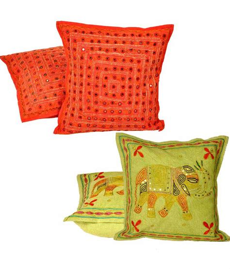 Handmade Cushion Covers - jaipurraga handmade cushion cover set get zari work
