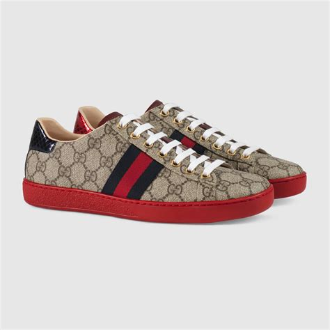 The Best Gucci Seprem 1 Gucci Ace Gg Supreme Low Top Sneaker In Gray Lyst