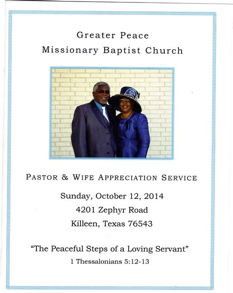 pin pastor appreciation program outline on