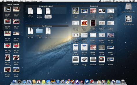 scrivania imac desktop groups mette al caos sulla scrivania mac