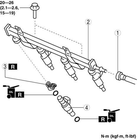 Mazda 3 Service Manual Fuel Injector Removal