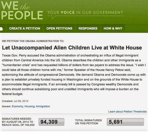 white house petition 187 immigration cristy li