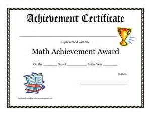 math achievement award printable certificate pdf math
