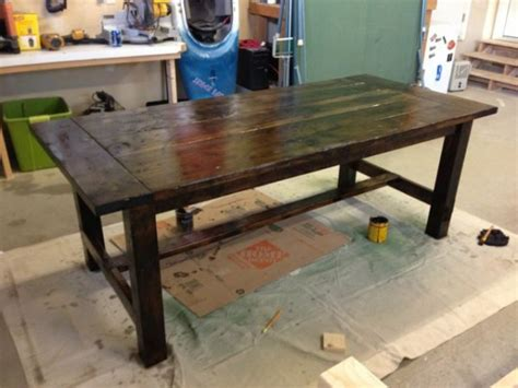 How To Build A Patio Bench Stained Farm Table Diy Projects With Pete