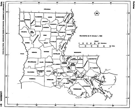 louisiana map black and white louisiana free map