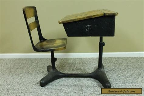 antique vintage student child s adjustable school desk