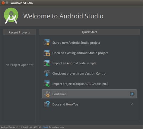 android studio for linux 如何为android studio 添加快速启动方式 linux