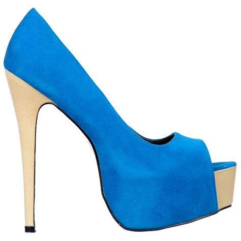 two tone high heels shoekandi suede two tone peep toe high heels concealed