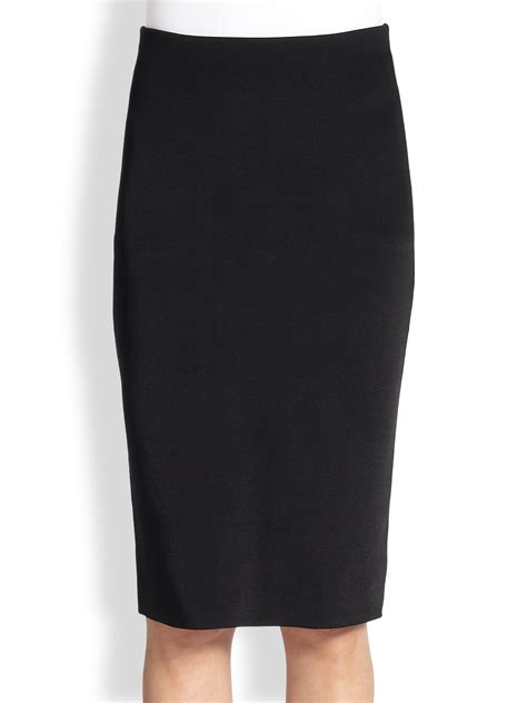 ralph black label stretch jersey pencil skirt in