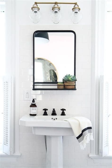 How To Hang A Bathroom Mirror How To Hang A Bathroom Mirror On Ceramic Tile Bathroom Mirrors Apartment Therapy And Therapy