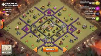 Sweeper clash of clans coc war base design town hall 8 war base