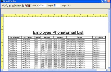 employee list template simple employee phone directory software for windows