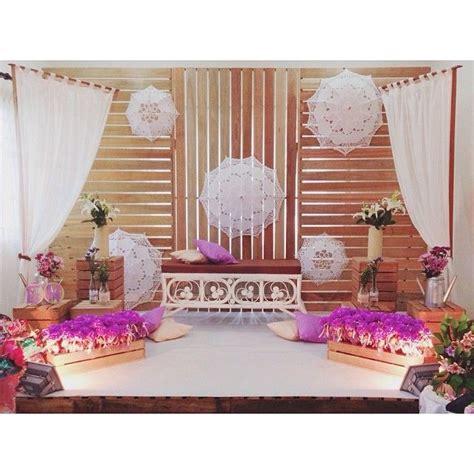 design backdrop kahwin wedding pelamin wedding dais dais diy pallet rustic