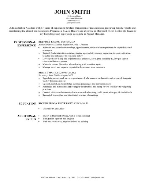 Harvard Resume Template by Expert Preferred Resume Templates Resume Genius