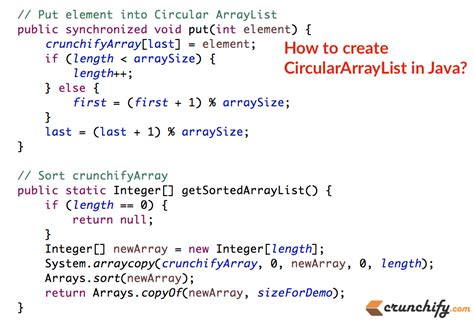 tutorial java list how to implement simple circulararraylist in java crunchify