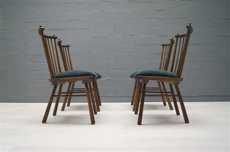 Wood Dining Chairs For Sale Vintage Wooden Dining Chairs 1950s Set Of 4 For Sale At