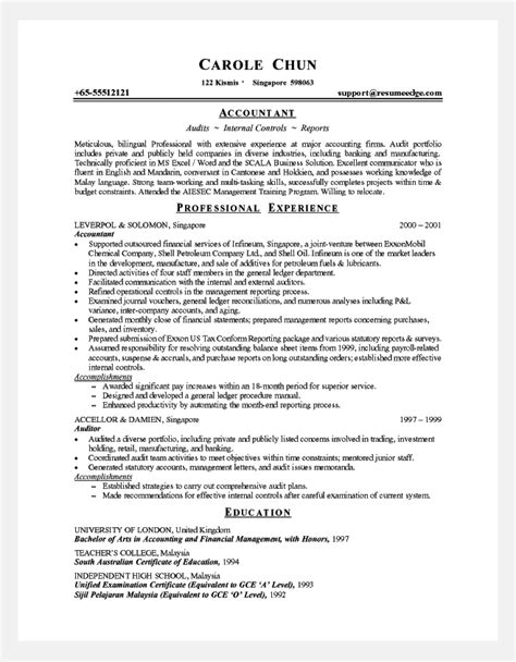cover letter senior accountant professional resume cover letter sle professional
