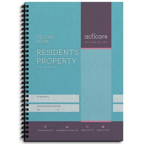 Recording On Property Resident S Property Record Book