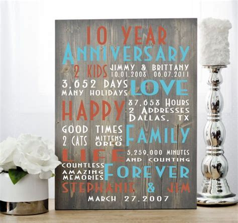 10th Anniversary Gift Ideas For by 25 Unique 10th Anniversary Gifts Ideas On