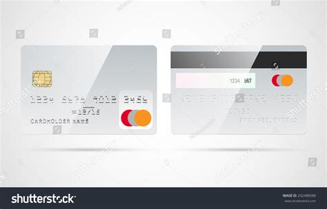 Blank Credit Card Template For Sale blank silver debit credit card template stock vector