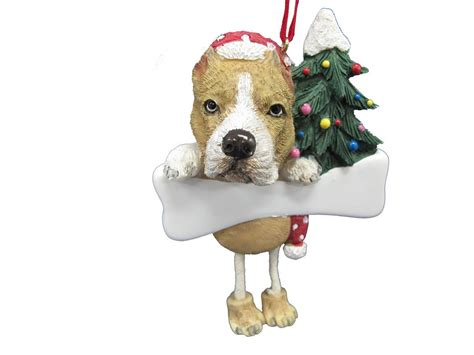 pit bull christmas ornament personalized xmas ornaments