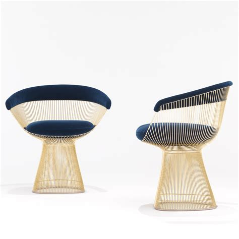 stuhl gold platner side chair gold knoll