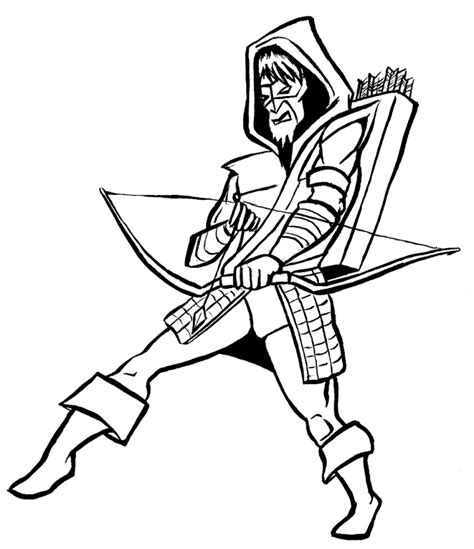 free coloring pages of green arrow