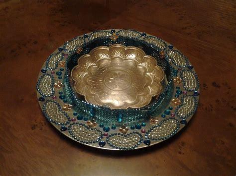 decorated aarthi plate raji creations