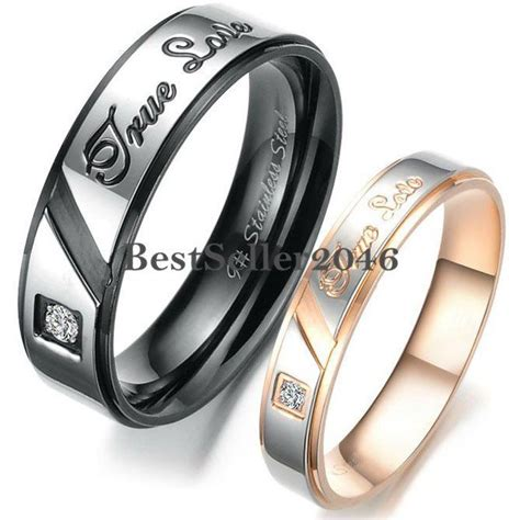 stainless steel quot true quot engagement promise ring