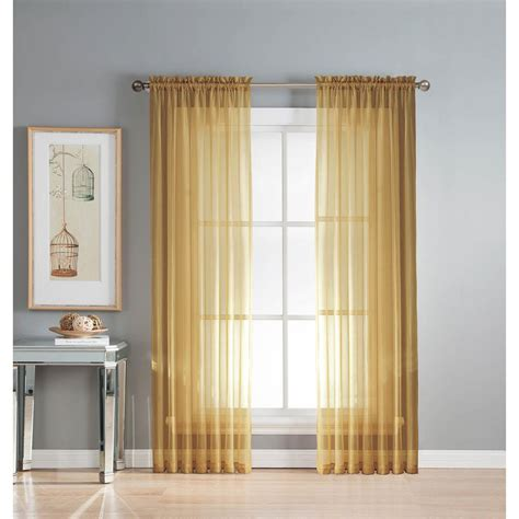 extra wide sheer curtain panels window elements sheer gold solid voile extra wide sheer