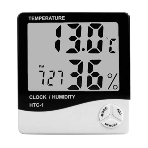 Hygrometer Thermometer Htc 1 Termometer Ruangan Digital Lcd Htc 1 Digital Lcd Thermometer Hygrometer Temperature Humidity Meter For Clock Alarm In