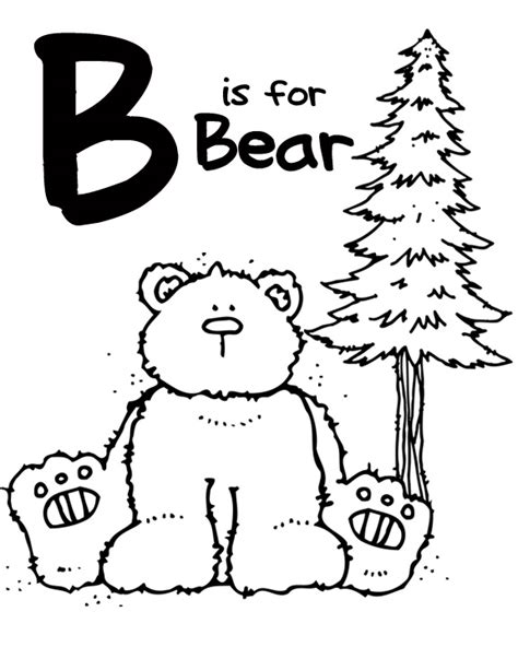 b bear coloring page we love being moms letter b bear bee