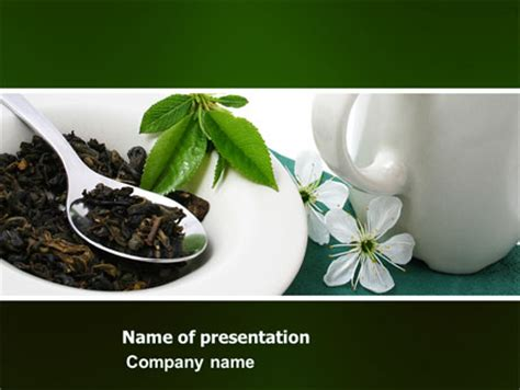 Green Tea Ceremony Powerpoint Template Backgrounds Tea Ppt Template Free