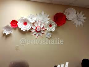 Flower Wall Decor by Handmade Paper Flower Collage Wall Decor 54artistry