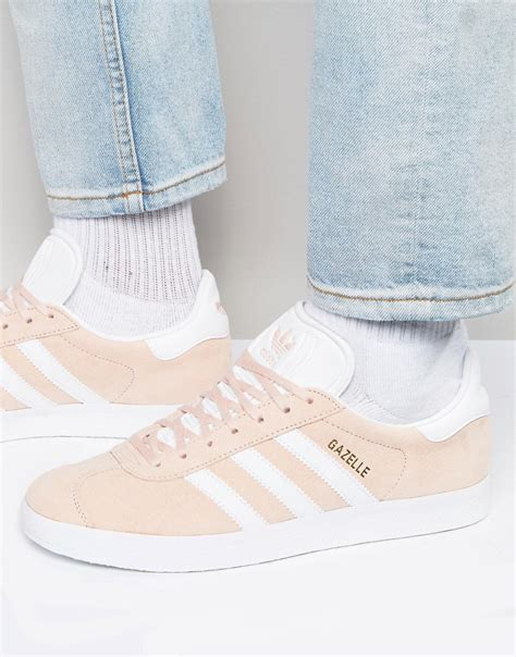 pink adidas originals gazelle trainers in pink bb5472 at asos