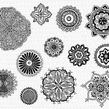 mandalas mehndi decorative henna tattoo hindu design