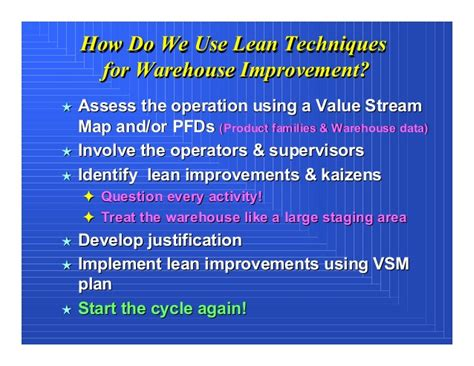 warehouse layout improvement applying lean concepts in a warehouse operation