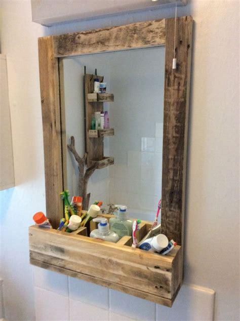 pallet wood bathroom rustic bathroom mirror made from reclaimed pallet wood