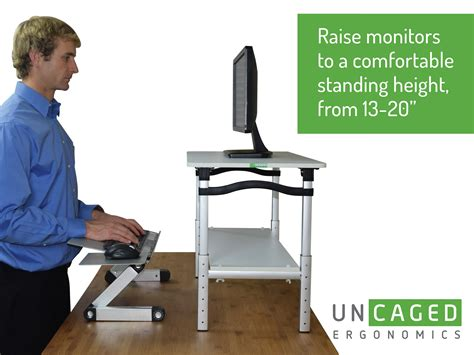 convert your desk to a stand up desk lift standing desk conversion kit tall portable
