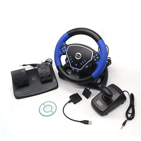 volante vibra volante pedal palanca juegos computador pc laptop ps2 ps3